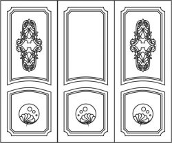 Design pattern door  E0006198 file cdr and dxf free vector download for Laser cut CNC