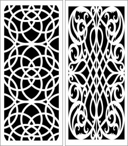 Design pattern panel screen E0006158 file cdr and dxf free vector download for Laser cut CNC