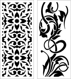 Design pattern panel screen E0006201 file cdr and dxf free vector download for Laser cut CNC