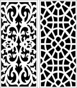 Design pattern panel screen E0006389 file cdr and dxf free vector download for Laser cut CNC