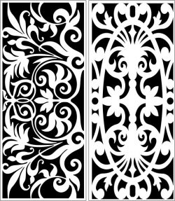 Design pattern panel screen E0006392 file cdr and dxf free vector download for Laser cut CNC