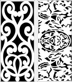 Design pattern panel screen E0006393 file cdr and dxf free vector download for Laser cut CNC