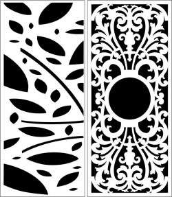 Design pattern panel screen E0006396 file cdr and dxf free vector download for Laser cut CNC