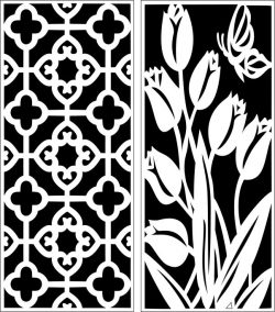 Design pattern panel screen E0006459 file cdr and dxf free vector download for Laser cut CNC