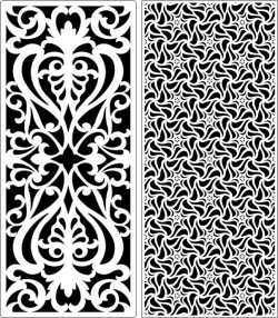 Design pattern panel screen E0006556 file cdr and dxf free vector download for Laser cut CNC