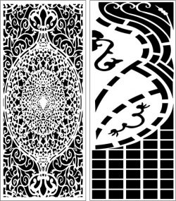 Design pattern panel screen E0006557 file cdr and dxf free vector download for Laser cut CNC