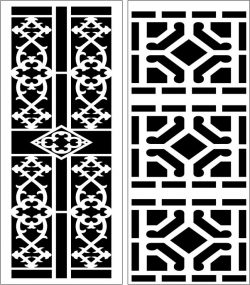 Design pattern panel screen E0006559 file cdr and dxf free vector download for Laser cut CNC