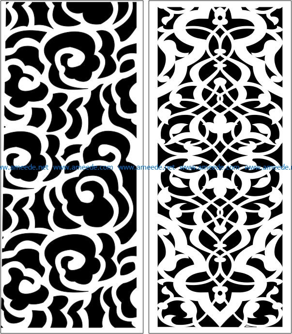 Design pattern panel screen E0006660 file cdr and dxf free vector download for Laser cut CNC