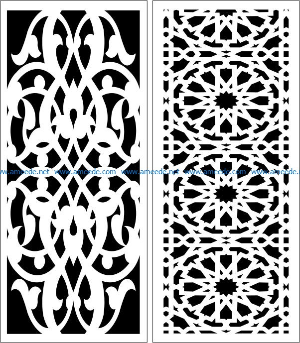 Design pattern panel screen E0006762 file cdr and dxf free vector download for Laser cut CNC