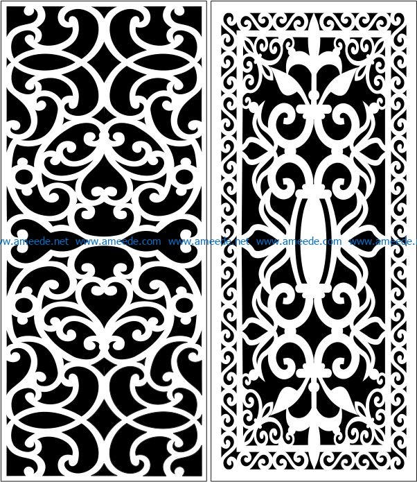 Design pattern panel screen E0006763 file cdr and dxf free vector download for Laser cut CNC
