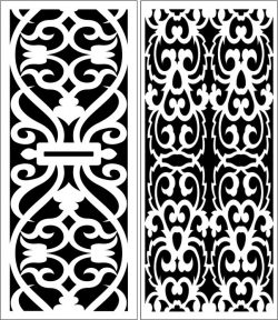 Design pattern panel screen E0006765 file cdr and dxf free vector download for Laser cut CNC