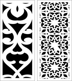 Design pattern panel screen E0006856 file cdr and dxf free vector download for Laser cut CNC