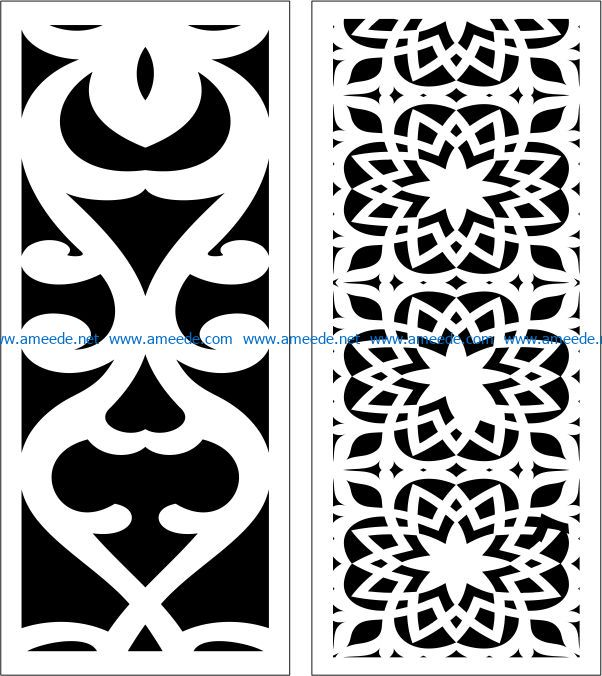 Design pattern panel screen E0006855 file cdr and dxf free vector download for Laser cut CNC