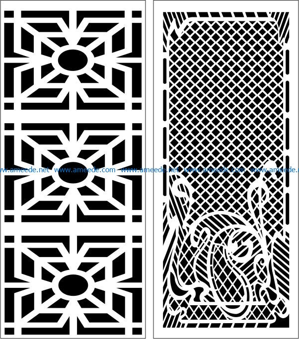 Design pattern panel screen E0006858 file cdr and dxf free vector download for Laser cut CNC