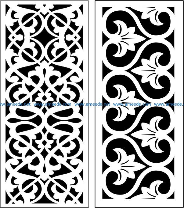 Design pattern panel screen E0006859 file cdr and dxf free vector download for Laser cut CNC