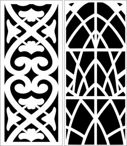 Design pattern panel screen E0006861 file cdr and dxf free vector download for Laser cut CNC