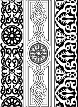 Design pattern woodcarving E0006151 file cdr and dxf free vector download for Laser cut CNC