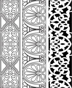 Design pattern woodcarving E0006152 file cdr and dxf free vector download for Laser cut CNC