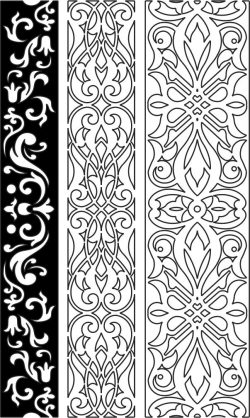 Design pattern woodcarving E0006153 file cdr and dxf free vector download for Laser cut CNC