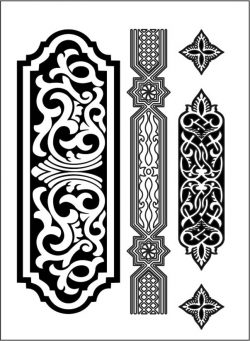 Design pattern woodcarving E0006154 file cdr and dxf free vector download for Laser cut CNC