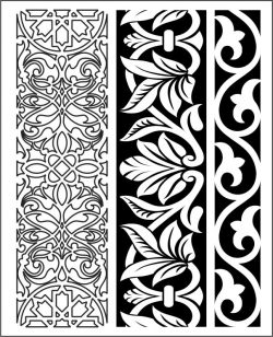 Design pattern woodcarving E0006155 file cdr and dxf free vector download for Laser cut CNC