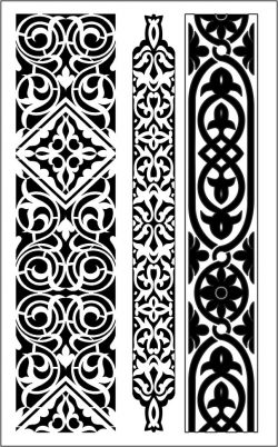 Design pattern woodcarving E0006449 file cdr and dxf free vector download for Laser cut CNC