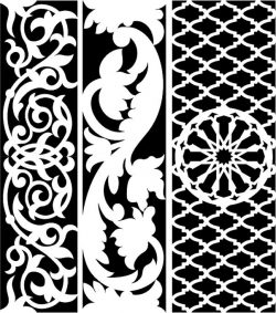 Design pattern woodcarving E0006450 file cdr and dxf free vector download for Laser cut CNC