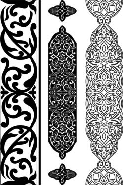 Design pattern woodcarving E0006451 file cdr and dxf free vector download for Laser cut CNC
