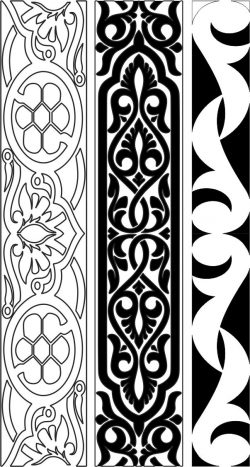 Design pattern woodcarving E0006452 file cdr and dxf free vector download for Laser cut CNC