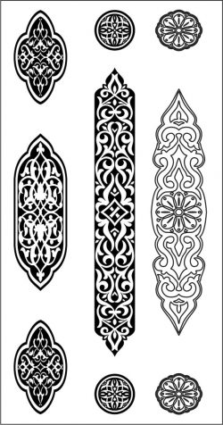 Design pattern woodcarving E0006453 file dxf free vector download for Laser cut CNC