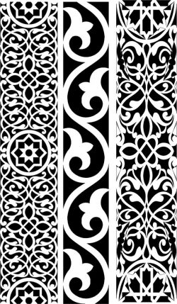 Design pattern woodcarving E0006454 file dxf free vector download for Laser cut CNC