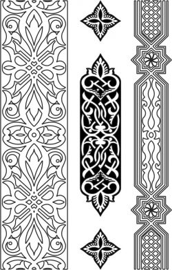 Design pattern woodcarving E0006456 file cdr and dxf free vector