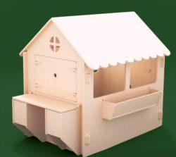 Dollhouse file cdr and dxf free vector download for Laser cut CNC