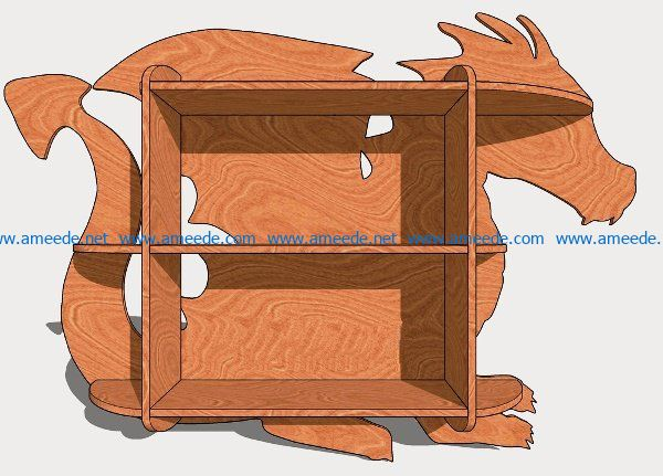 Dragon shelf file cdr and dxf free vector download for CNC cut