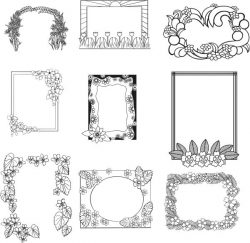 Frames for engraving  file cdr and dxf free vector download for laser engraving machines
