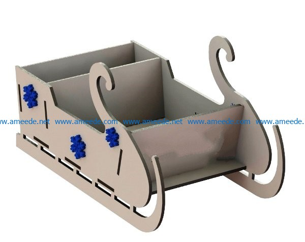 Frozen sleigh file cdr and dxf free vector download for Laser cut CNC