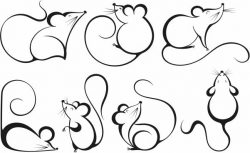 Funny mouse file cdr and dxf free vector download for print or laser engraving machines