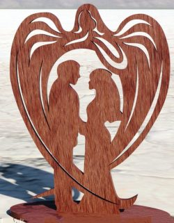 Guardian angel file cdr and dxf free vector download for Laser cut