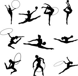 Gymnastics file cdr and dxf free vector download for Laser cut Plasma file Decal