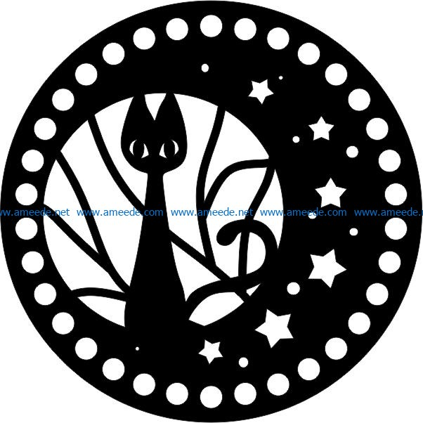 Halloween witch cats file cdr and dxf free vector download for print or laser engraving machines