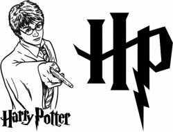 Harry potter and magic wand file cdr and dxf free vector download for print or laser engraving machines