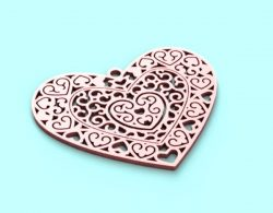 Heart file cdr and dxf free vector download for Laser cut