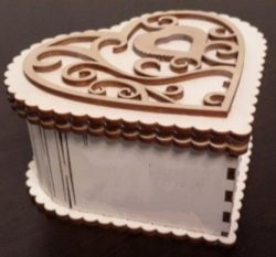 Heart wooden box file cdr and dxf free vector download for Laser cut CNC