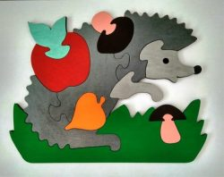 Hedgehog puzzle piece file cdr and dxf free vector download for Laser cut