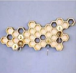 Honeycomb key holder file cdr and dxf free vector download for Laser cut