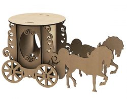 Horse carriage file cdr and dxf free vector download for Laser cut