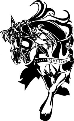 Horse file cdr and dxf free vector download for print or laser engraving machines