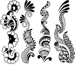 Indian style flowers file cdr and dxf free vector download for laser engraving machines