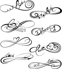 Infinity love file cdr and dxf free vector download for print or laser engraving machines
