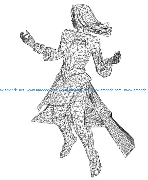 Lina dota game heroes file cdr and dxf free vector download for laser engraving machines